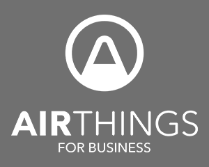 Airthings for Business LOGO - Standard - White - grey